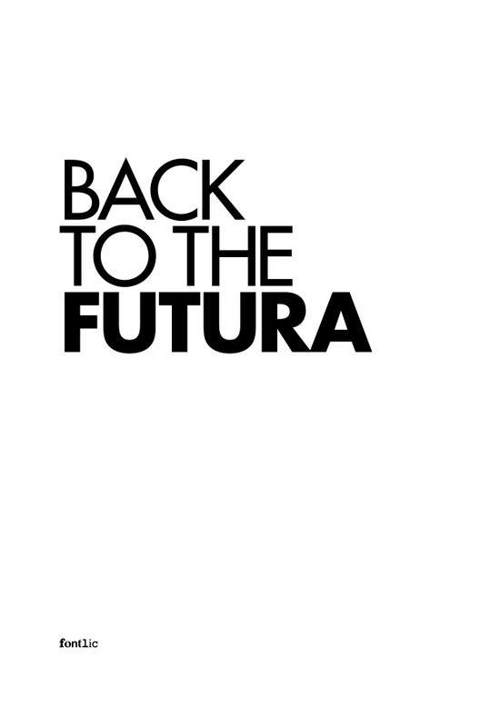 Back to the Futura Art Print