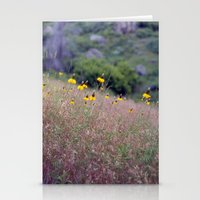 montana yellow Stationery Cards