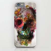 black iPhone & iPod Cases featuring SKULL 2 by Ali GULEC