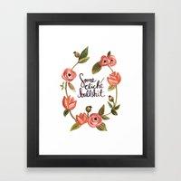 Some Cliche Bull Framed Art Print