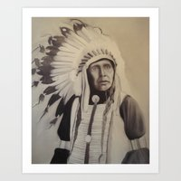 native american Art Prints featuring Native American by Coral Churchill