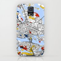 Galaxy S5 Cases featuring Stockholm mondrian by Mondrian Maps
