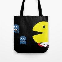 pacman effect Tote Bag