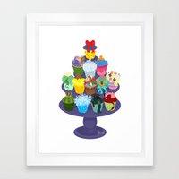 The Princess Cupcake Collection II Framed Art Print