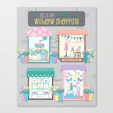 Let's Go Window Shopping Canvas Print