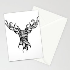 Henna Inspired Stag Head by Ashley-Rose Standish Stationery Cards