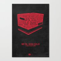 Metal Gear Solid Typography Canvas Print