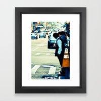 Lost in The Apple Framed Art Print