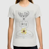 self portrait with calendula Womens Fitted Tee Silver SMALL