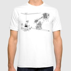 Tesla Mens Fitted Tee SMALL White