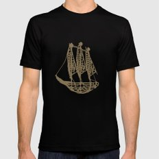 Cape Glass (brown) SMALL Mens Fitted Tee Black