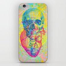 Brain Heart Skull iPhone & iPod Skin