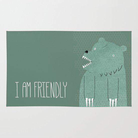 Friendly Bear Area & Throw Rug