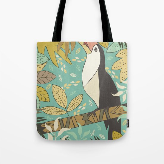 Forest Toucan  Tote Bag