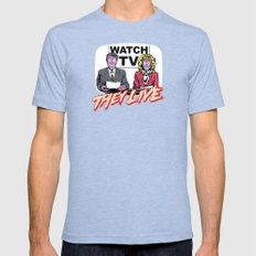 They Live Tv Mens Fitted Tee Tri-Blue SMALL