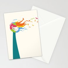 Birds Color Stationery Cards
