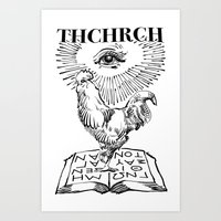 thchrch rooster Art Print