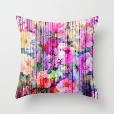 Flowers in the Wood Throw Pillow