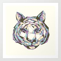 Crystal Tiger Art Print