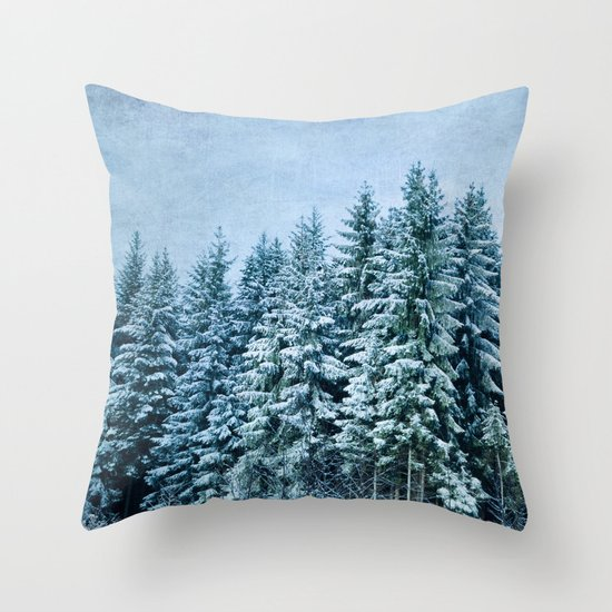 xmas trees Throw Pillow
