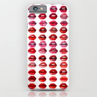 iPhone & iPod Case featuring Lips Quote by Taylor Jean