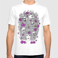 Purple Lady Nature. Mens Fitted Tee White SMALL