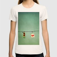 Ready For Love  Womens Fitted Tee Natural SMALL