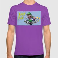 Kart Fink Lil Bro! Mens Fitted Tee Ultraviolet SMALL