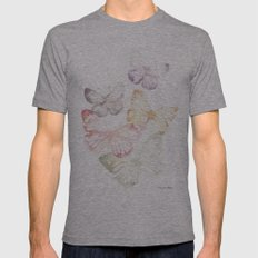 Butterflies Mens Fitted Tee Athletic Grey SMALL
