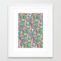 FUNNY ANIMALS Framed Art Print