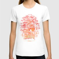 city T-shirts featuring Burning In The Skies by Robson Borges