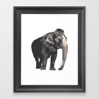 Elijah The Elephant Framed Art Print