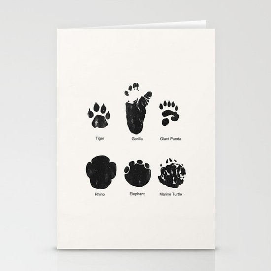 Animal Track Stationery Card