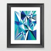 Diamond Blue Framed Art Print