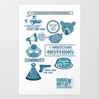 The Office - Quotes And … Art Print