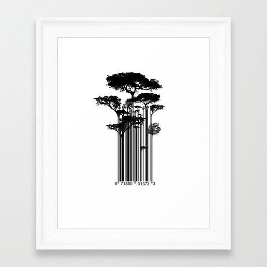 Barcode Trees illustration  Framed Art Print