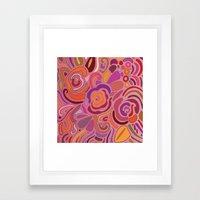 Rose Fragments, Pink, Pu… Framed Art Print