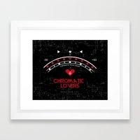 Chromatic Lovers Framed Art Print