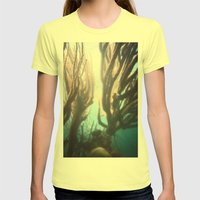 Deep Blue Reef Womens Fitted Tee Lemon SMALL