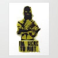 WRG - Weekly Riot Group Art Print