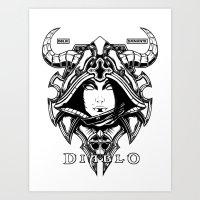 Diablo III. Demon Hunter Art Print