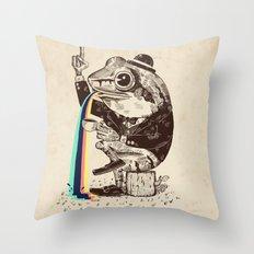 Strange Frog Throw Pillow