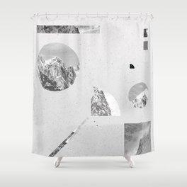 Shower Curtain - monochromatic - .eg.