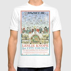 Leslie Knope for City Council - Parks and Recreation Dept. White Mens Fitted Tee SMALL