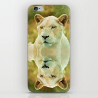 iPhone & iPod Skin featuring LIONESS LOVE by Catspaws