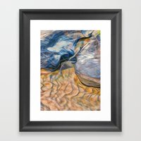 Abstract beautiful rocks on the sand Framed Art Print