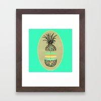 Sliced pineapple Framed Art Print