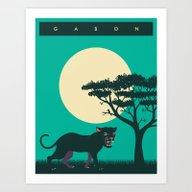 GABON TRAVEL POSTER Art Print