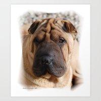 Worry Wrinkles Art Print