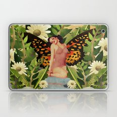 Retro Beauty With Butterfly Wings Garden Laptop & iPad Skin